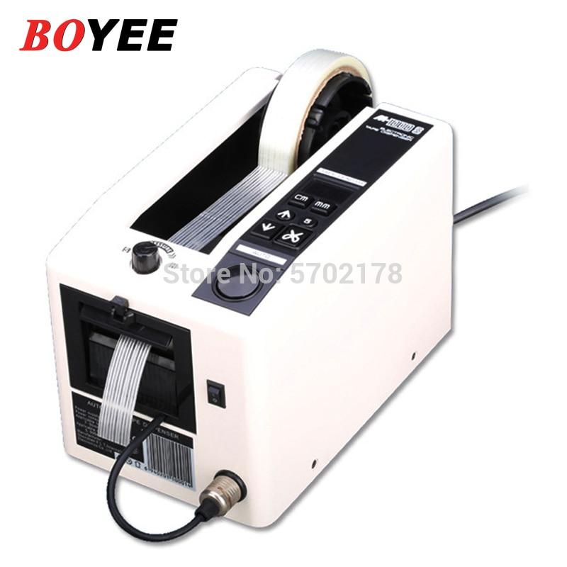 M-1000S 18 واط موزع شريط آلي الكهربائية لاصق القاطع آلة قطع 5-999 مللي متر قاطع أحزمة درجة الحرارة العالية