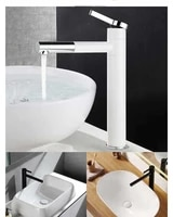 bathroom simple high style white faucet hot and cold water tank faucet all copper basin wash basin 360 degree rotary faucet
