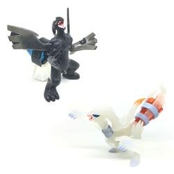 Brinquedos quentes dos desenhos animados reshiram zekrom anime figura bonecas brinquedos anime pokemones reshiram zekrom figura de ação brinquedos presentes para crianças