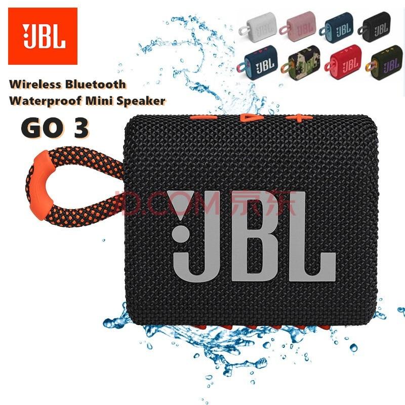الأصلي JBL GO 3 GO3 سماعة لاسلكية تعمل بالبلوتوث المتكلم مضخم الصوت في الهواء الطلق المتكلم مقاوم للماء باس الصوت مكبر صوت صغير متعدد الألوان