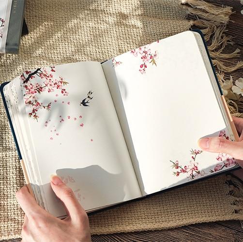 caderno de pagina interna cor estilo chines caderno de capa dura criativo diario