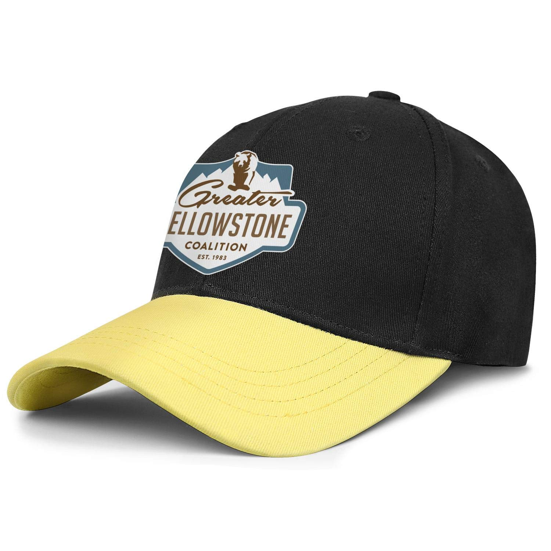 Yellowstone-National-Park-Logo- Unisex gorras de béisbol Casual papá gorra camionero ajustable