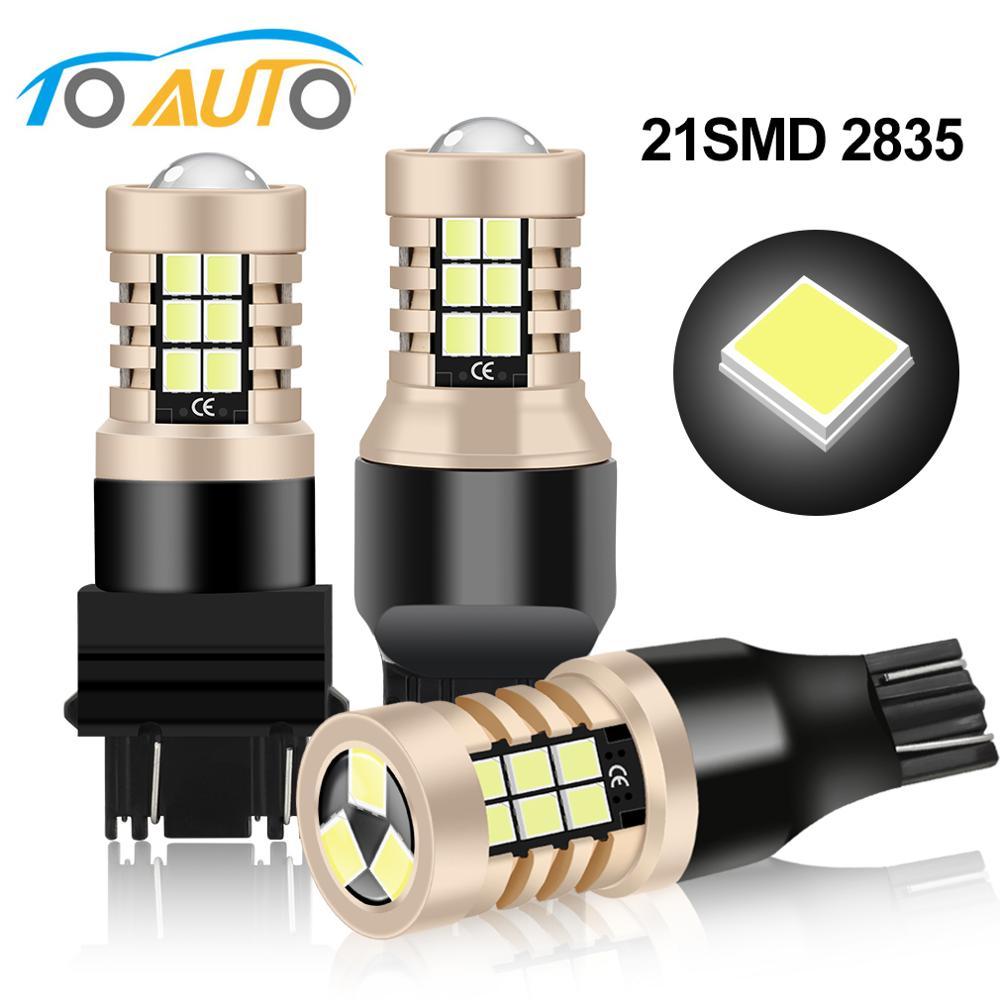 T15 W16W T20 7443 W21/5W T25 3157 P27/7W LED Car Lights Bulbs Auto Lamp for Brake Reverse Daytime Running Light 12V