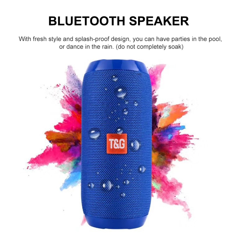 YABA Bluetooth Speaker Portable Outdoor Sport Loudspeaker Wireless Mini Column Music Player Support FM Radio Aux Input