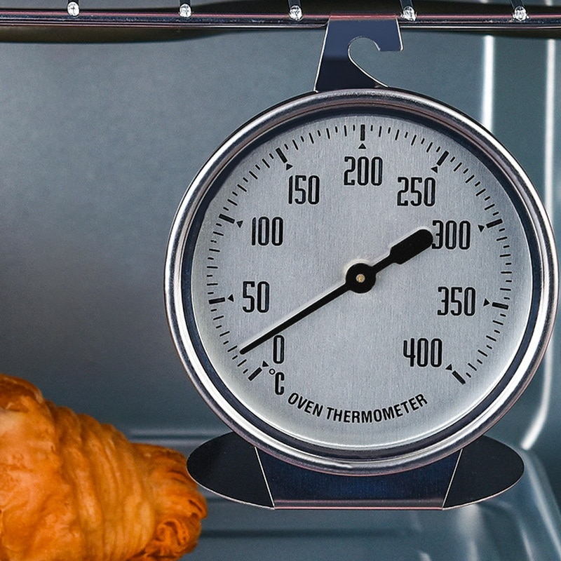 Horno grande de acero inoxidable de 0 a 400 grados, termómetro especial para horno, termómetro de medición, herramientas de horneado #2
