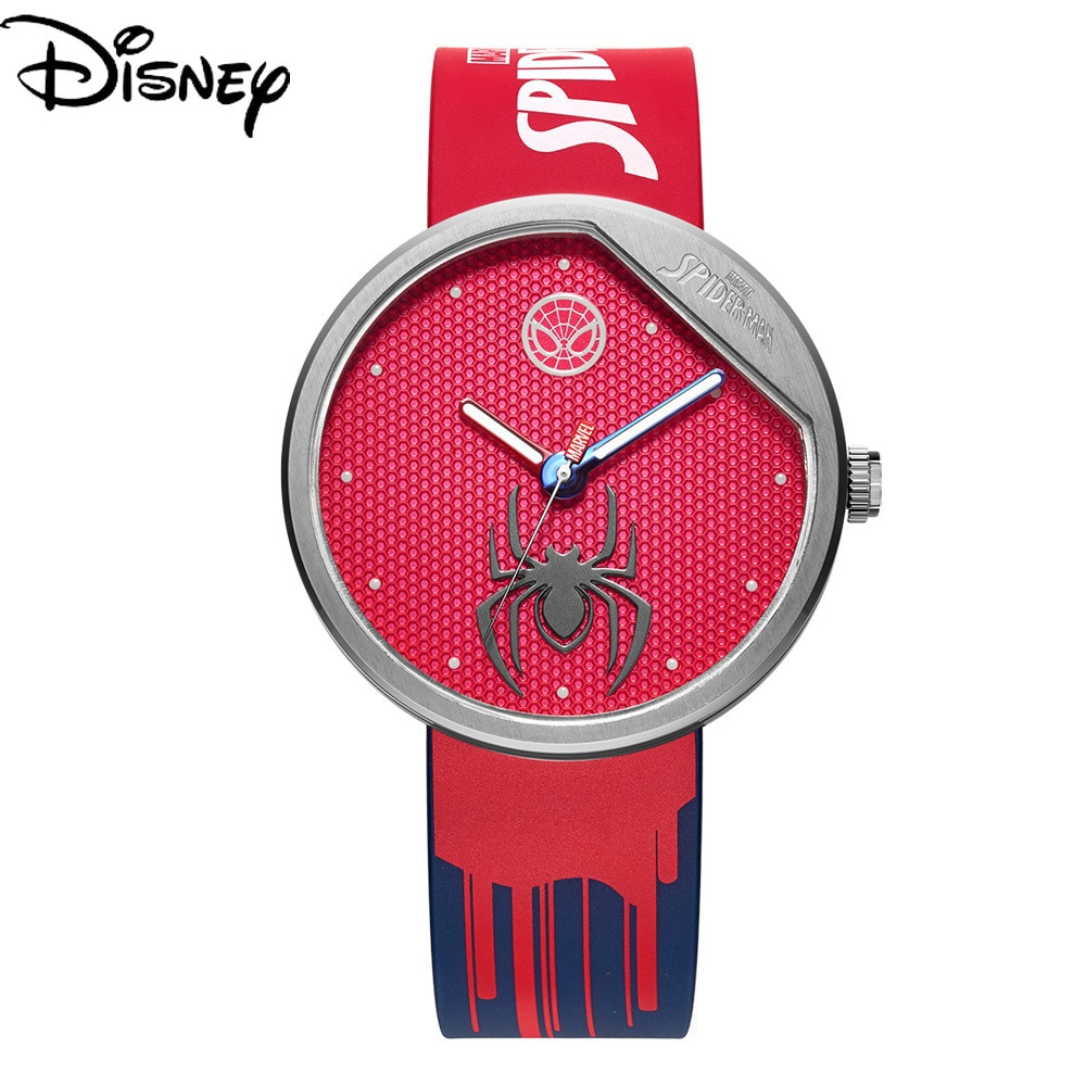 Disney Marvel Leisure Trend Personality Waterproof Watch Men's Luminous Quartz New Tape Watch