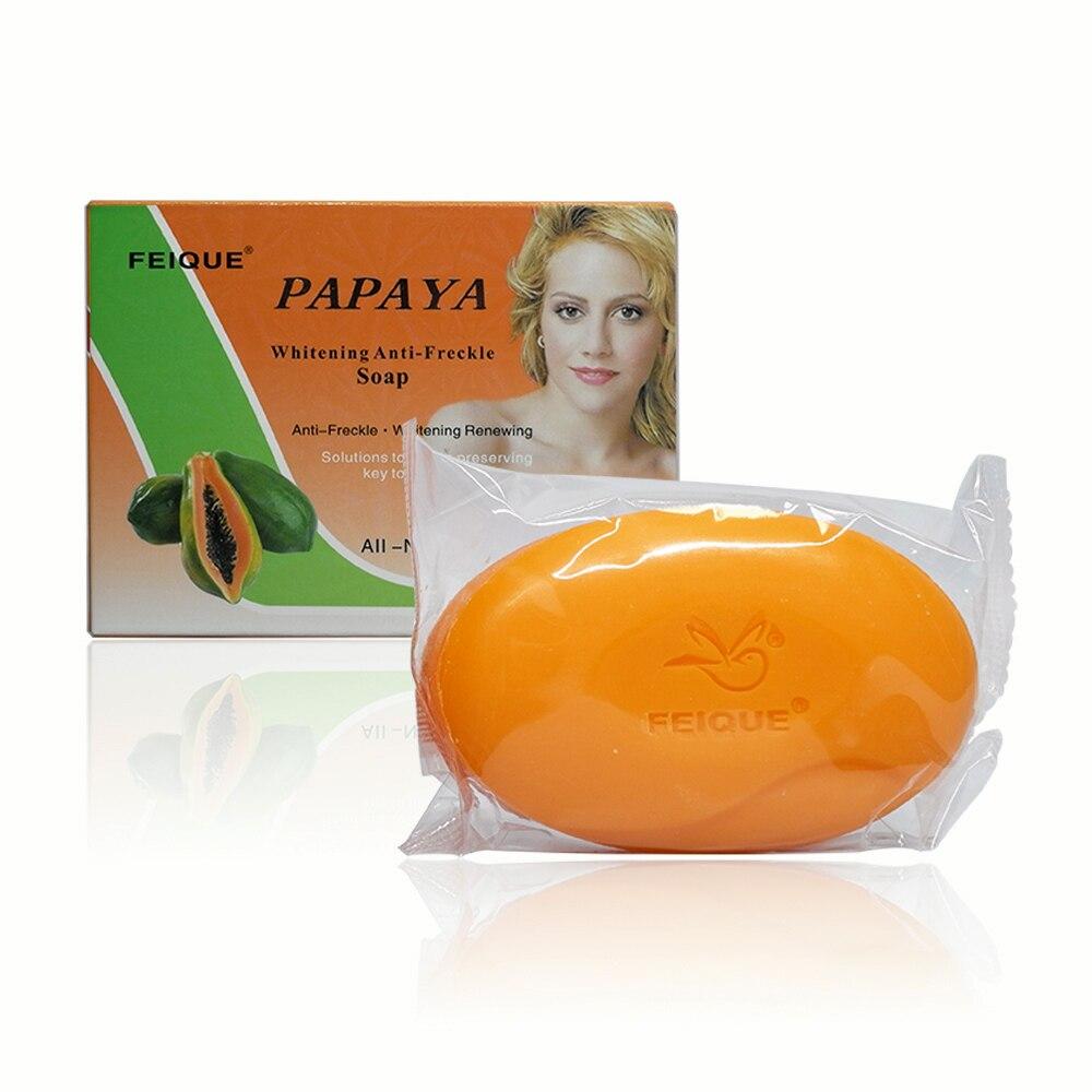 Feique all-formula botanico naturale papaia sbiancamento anti-lentiggine rinnovare sapone 130g per pc