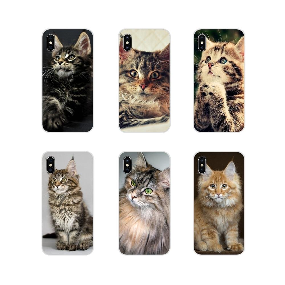 Accesorios del teléfono para Samsung Galaxy A3 A5 A7 A9 A8 estrella A6 Plus 2018, 2015, 2016, 2017 para mascotas gato Maine Coon