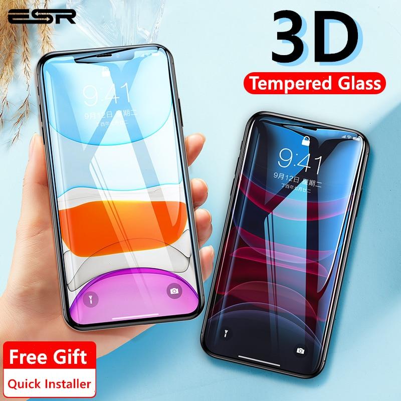 ESR 1PC/2PCS Screen Protector für iPhone 11 Pro Max X XS XR XS Max Pro Max vollständige Abdeckung Gehärtetes Schutz Glas für iPhone 11
