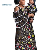 african clothes ankara print long dresses for women mom and daughter dress girl clothes dashiki african design clothing wyq781