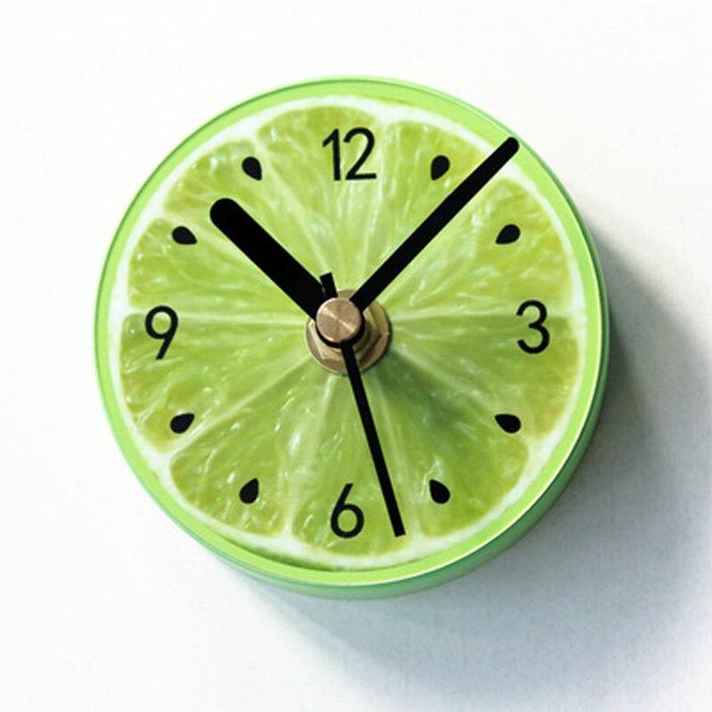 Obst Kühlschrank magnet Wanduhr Kalk Moderne Küche Uhr Uhr Home Decor Kühlschrank Uhr Obst Wand Kunst Uhren