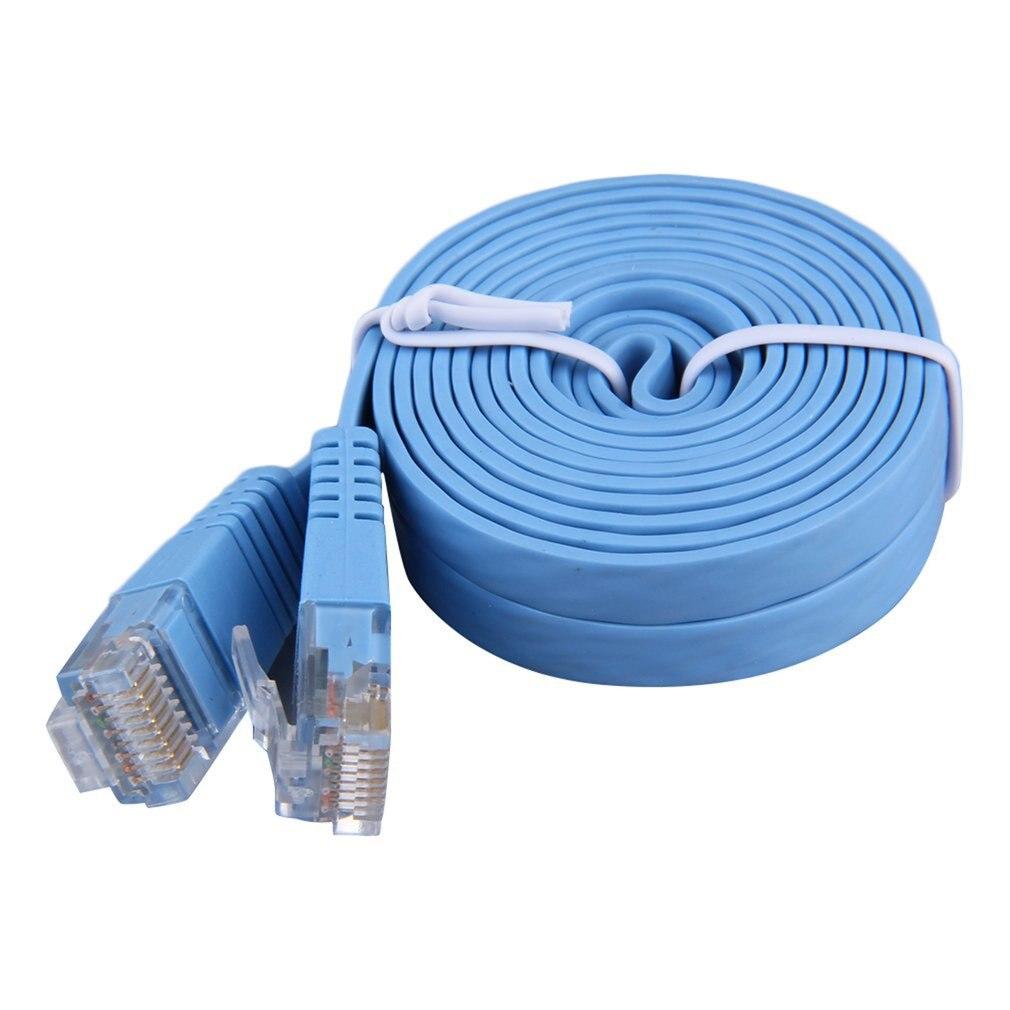 Nouveau 2M/3M Cat5e RJ45 8P8C Super mince plat LAN réseau Ethernet câble de raccordement en stock!