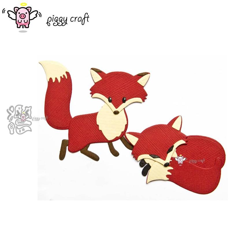 Piggy Craft metal cutting dies cut die mold Fox decoration Scrapbook paper craft knife mould blade punch stencils dies