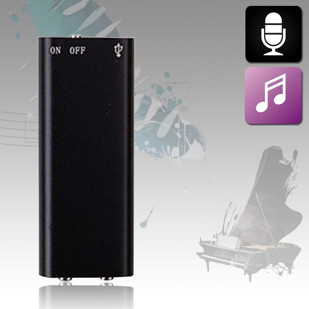 Mini 150Hr USB 8GB Audio Digital grabadora de voz dictáfono MP3 grabadora de voz caliente