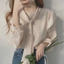 Shirt Spring 2021 New Fashion Korean Chic Very Fairy Blouse Design Sense Small Floral Collar Shirt f