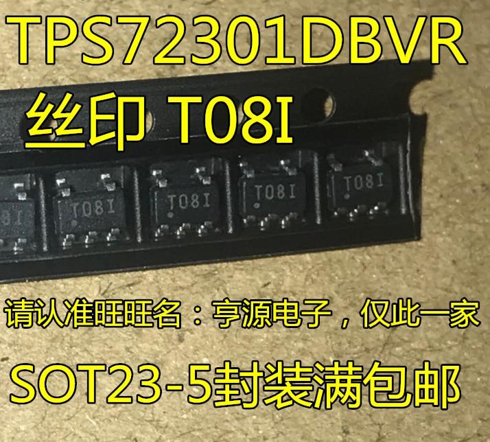 10 peças TPS72301DBVR TPS72301DBVT T08I SOT23-5