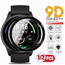 1-2Pcs 9d curved protective glas for xiaomi mi watch color sports edition soft fiberglass screenprot