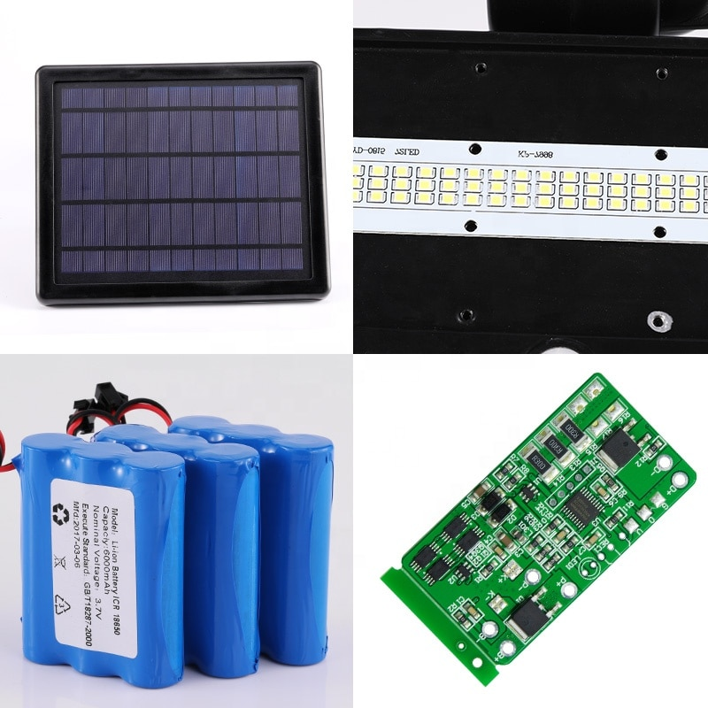 Solar Energy Systems Led Lights Outdoor Waterproof Remote Control Lamps Spot Light Flood Garden Lawn Lighting Control Lamp enlarge