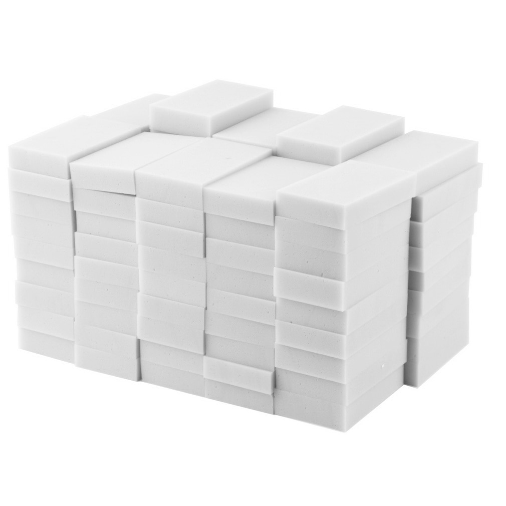 100 pcs/lot Melamine Sponge Sponge Eraser Kitchen Melamine Sponge Cleaner Cleaning Sponge for Office Bathroom