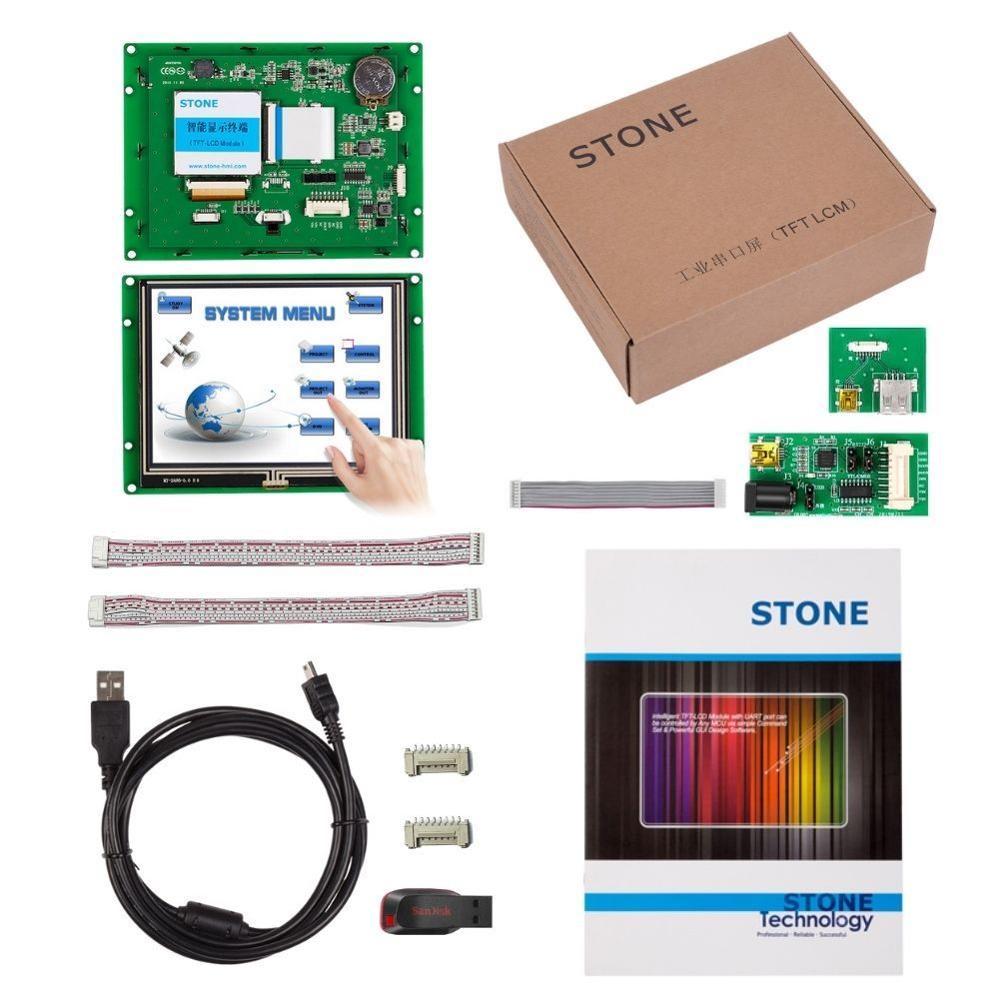 Pantalla a todo color de piedra, pantalla gráfica de 640x480 5,6 pulgadas, módulo HMI TFT, Panel LCD para uso Industrial