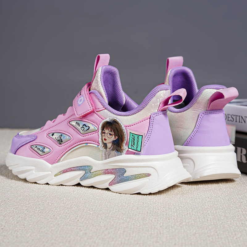 Shoes for Girls  Sneakers  Toddler Girl Sneakers Kids Shoes Sports Shoes Cartoon  Waterproof Non Slip Pink Shoes