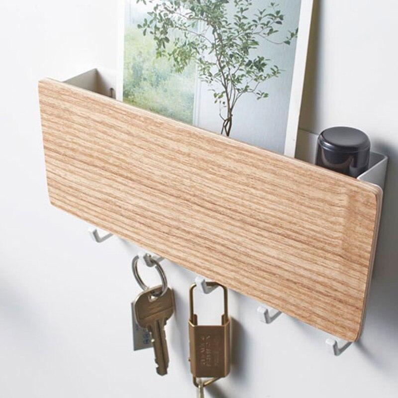 Rack de armazenamento de madeira, cabide vintage de parede para casa, corredor, economia de espaço, casa, porta pequena, quarto, prateleira de decoração