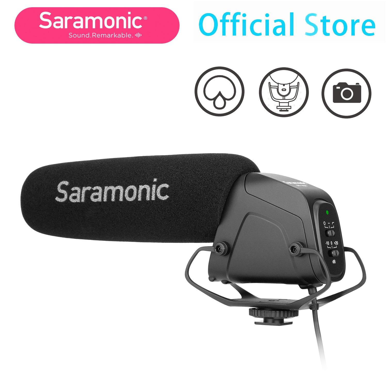 Saramonic SR-VM4 Super-Cardioid Lightweight Directional Condenser Microphone for DSLR Camera Camcorder Interview Shoot Video