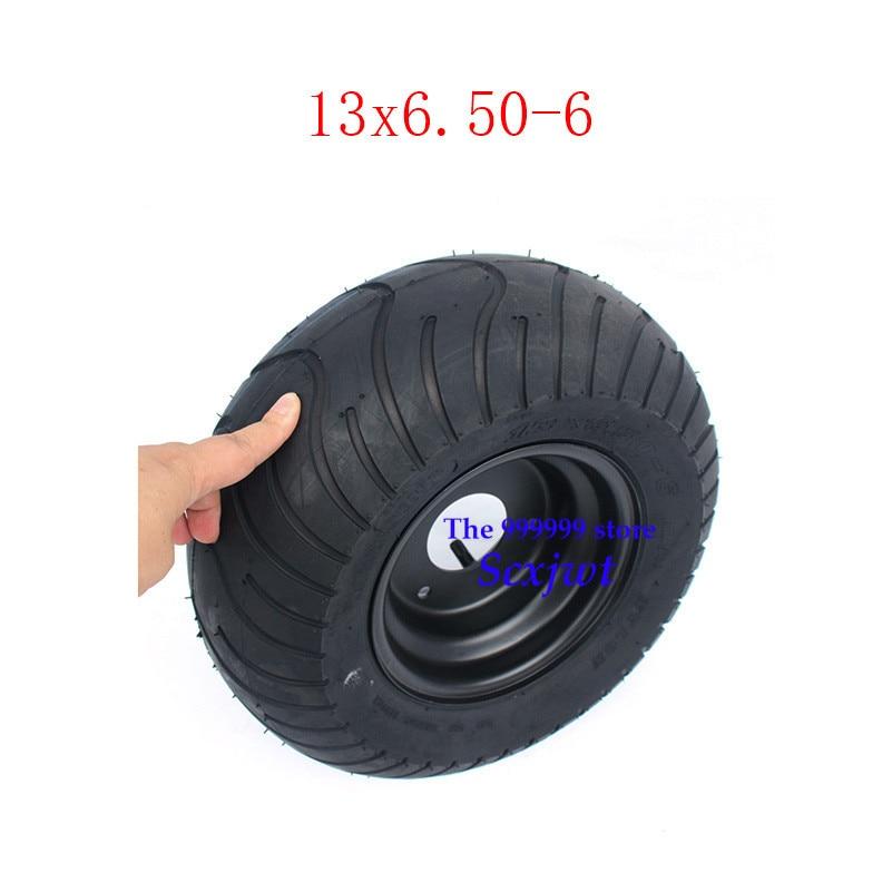 2 uds GO KART KARTING ATV UTV Buggy 13X6.50-6 pulgadas rueda sin cámara neumático con buje