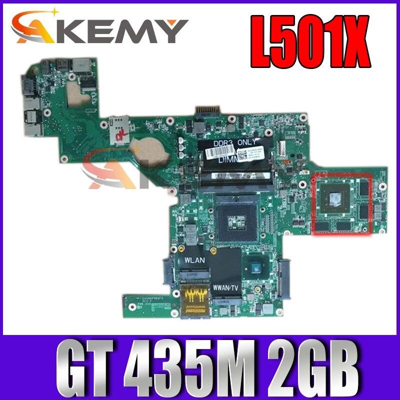 Akemy لأجهزة الكمبيوتر المحمول DELL L501X اللوحة CN-0NWF36 0NWF36 NWF36 DAGM6BMB8F0 HM57 GT 435M 2GB DDR3 MB دعم I7 CPU 100% اختبارها