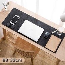 Large Office Computer Desk Mat Table Keyboard XXL Mouse Pad Wool Felt Laptop Cushion Desk Non-slip Mat Gamer Mousepad Mat