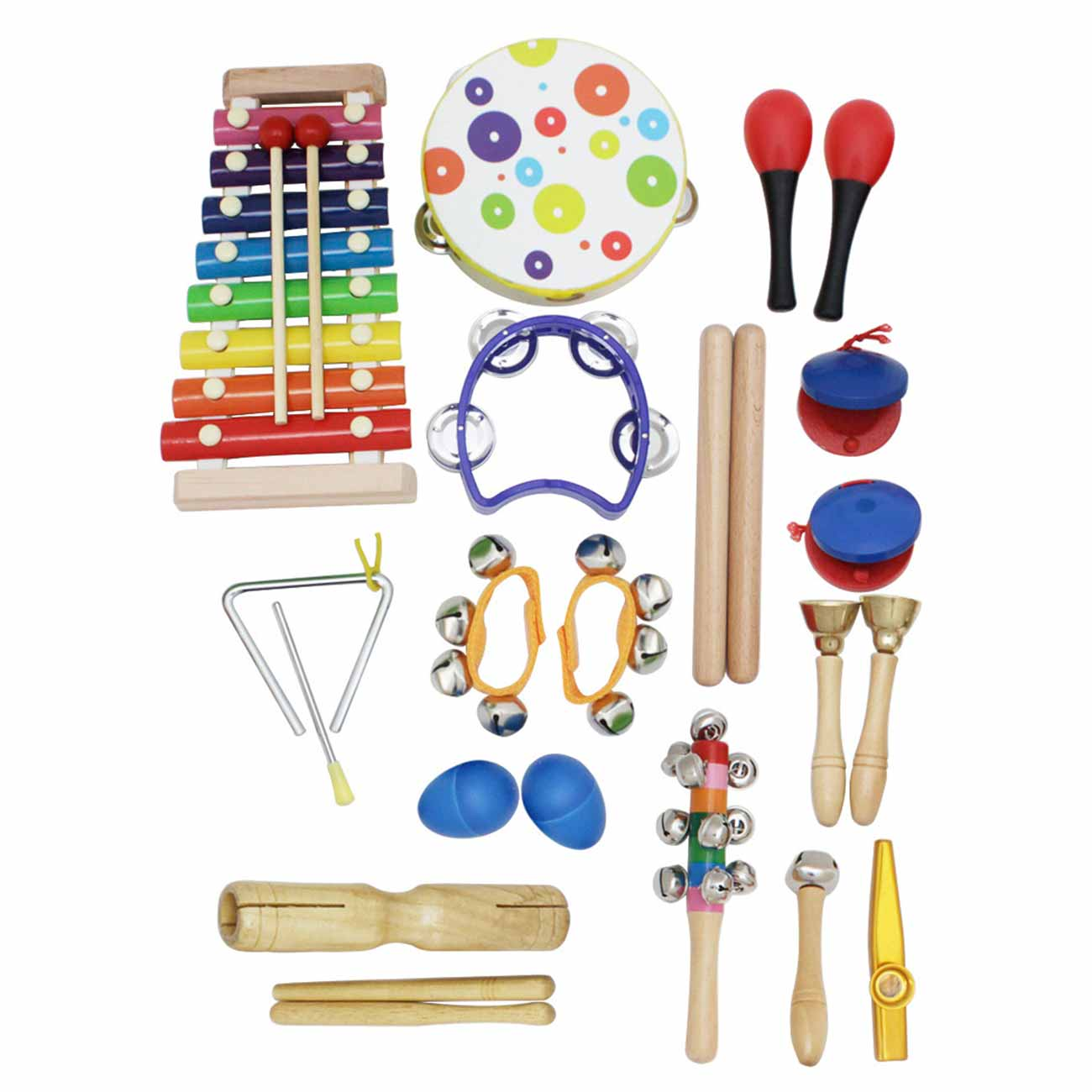 19pcs Percussion Musical Instruments Toys Kit Kid Musical Toys Set Birthday Gift for Toddlers Preschool Children Early Education enlarge
