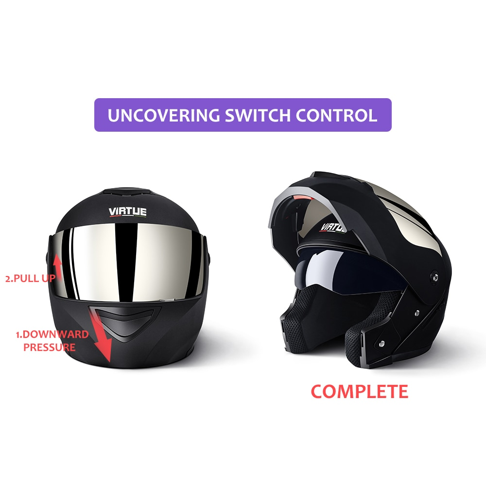 2019 Professional Racing Helmet Modular Dual Lens Motorcycle Helmet Full Face Safe Helmets Casco Capacete Casque Moto S M L enlarge