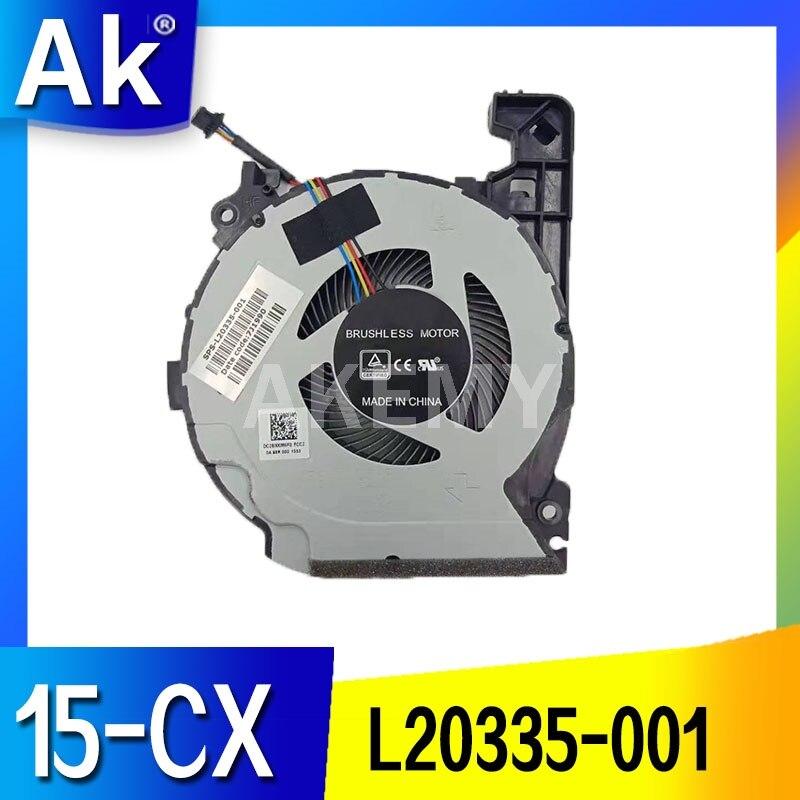 ¡Nuevo! Ventilador para For HP PAVILION 15-CX0598NA 15-CX0040NR 15-CX0071NR 15-CX0999NL TPN-C133 ventilador de refrigeración de L20334-001 L20335-001