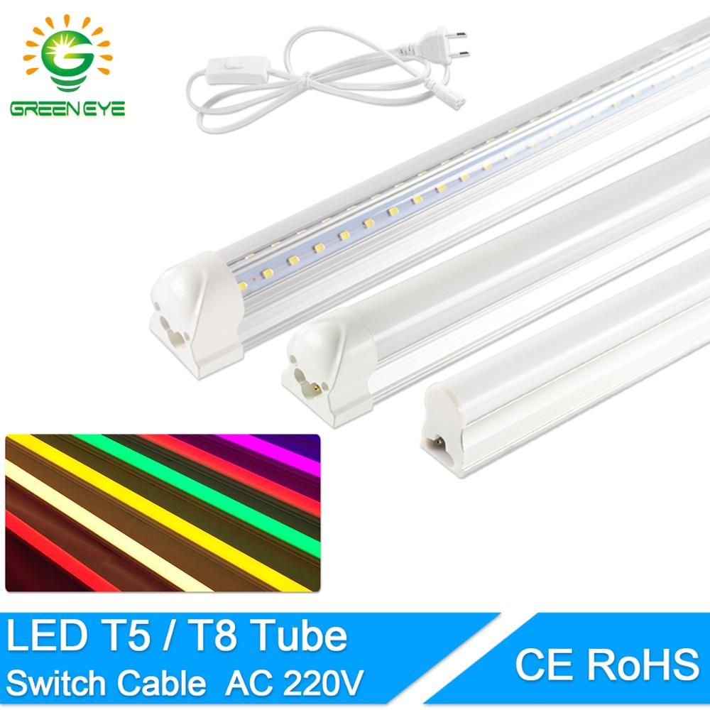 LED Tube T5 T8 led integrated tube Led Lamp 6w 10W 20w  AC110V 220V 240V 60cm 1FT 2FT Super Bright  LED Fluorescent Lamp Ampoule