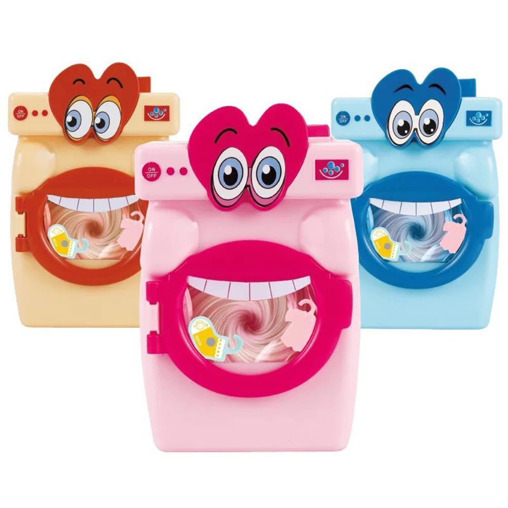 Niños simulación gran boca lavadora juguete Mini juego casa de muñecas accesorios muebles miniatura casa de juegos juguetes niños juguete