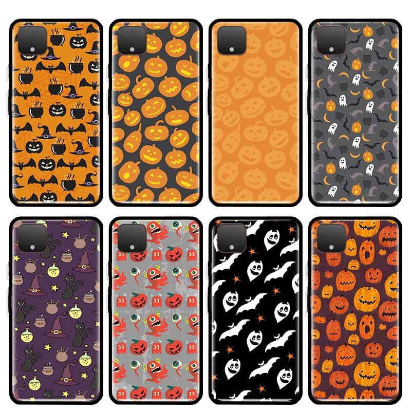 Dulces de Halloween Festival teléfono caso para Google Pixel XL 4 Pixel 4 Pixel 4a de silicona transparente Funda trasera suave TPU Coque Funda