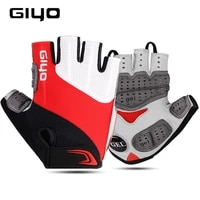 giyo breathable bike gel pad gloves touch screen half finger mtb cycling gloves men women short racing gloves bicycle equipment