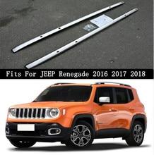 Porte-bagages en alliage daluminium   Barres de toit pour voiture, pour JEEP Renegade 2016 2017 2018