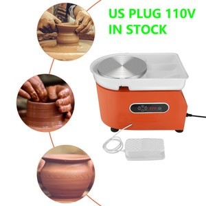 110V Upgraded Version Of Electric Pottery Wheel With LCD Display 25CM 350W Electric Pottery Wheel Ceramic Work Clay Crafts Tool