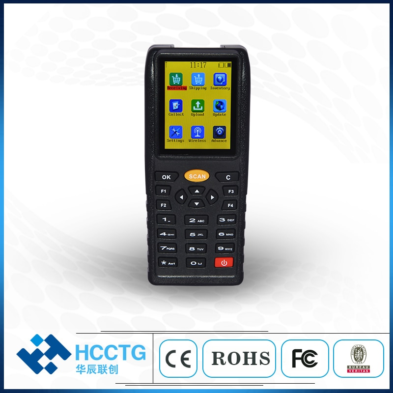 433M inalámbrico/USB inventario portátil escáner de código de barras PDA colección de datos Terminal HS-X7