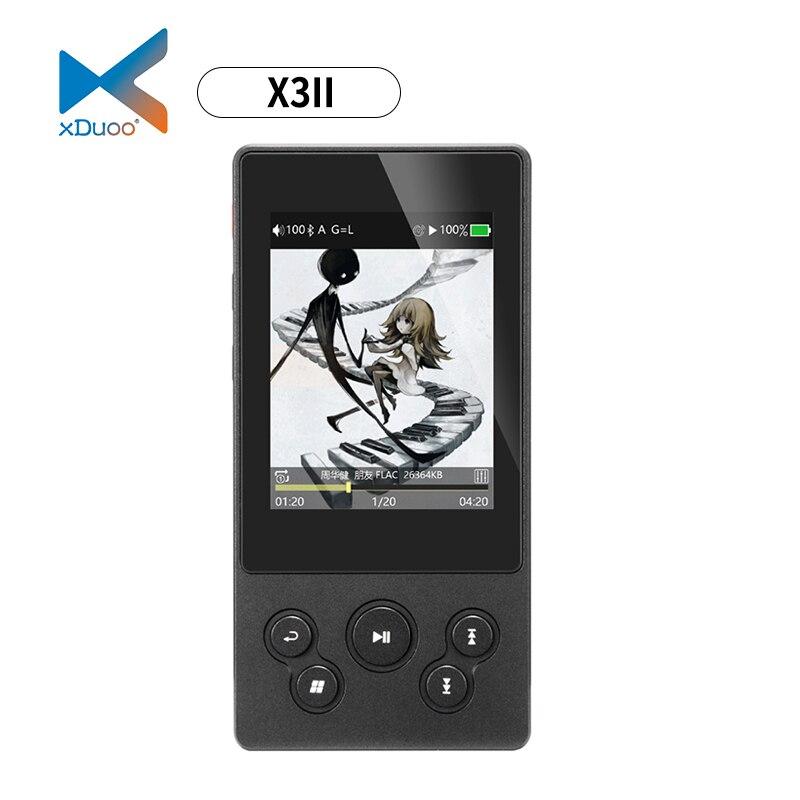 XDUOO X3II AK4490 DSD128 USB DAC Bluetooth Portátil HD Lossless Leitor de Música