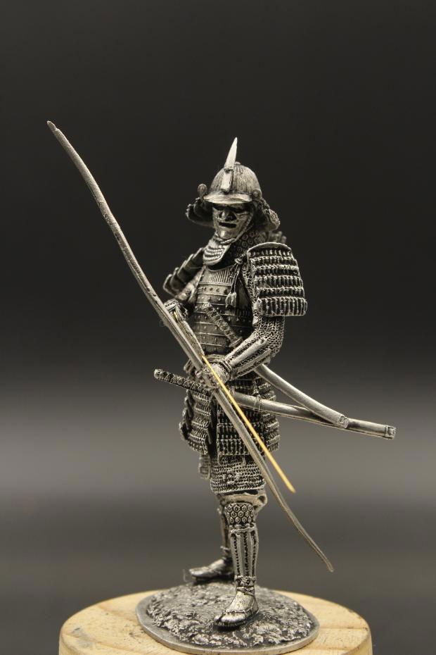 1:24 Scale 75mm Tin Metal Armor Samurai Statuette Figure DIY Assembling Japenese Warring Warrior Archer Static Soldier Model