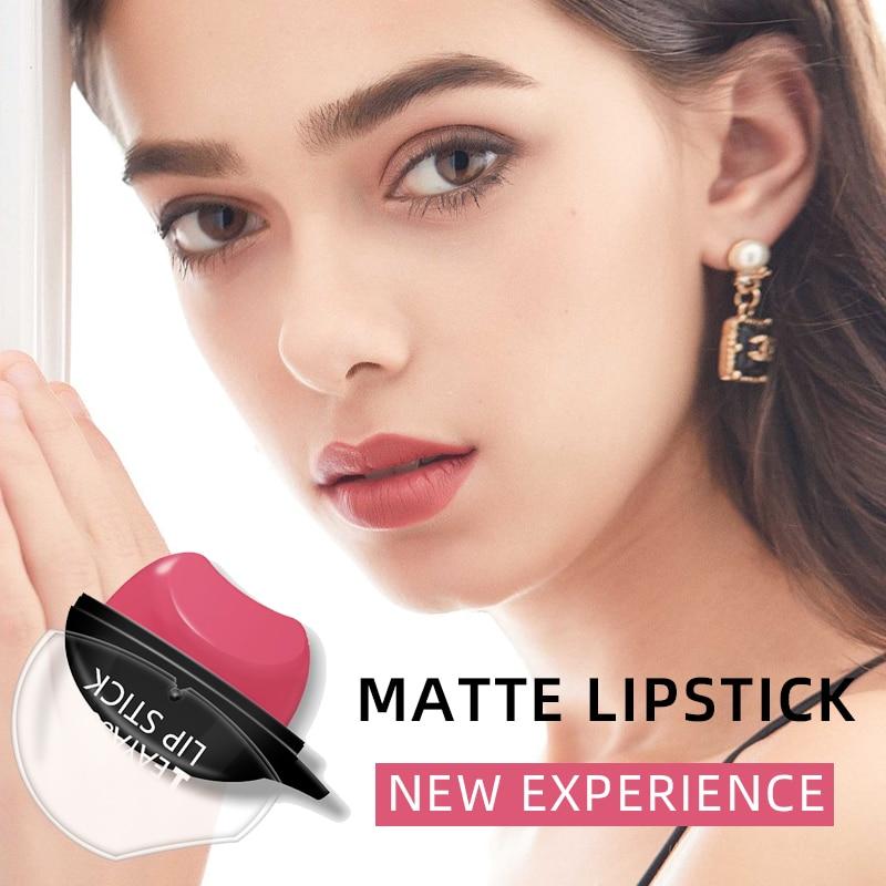 6 Colors Lip Shape Lazy Lipstick Waterproof Moisturizing Long Lasting Matte Lip Gloss Makeup Women S