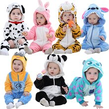 Baby rompers boy girl clothes new born baby costume jumpsuits Infant onesies winter stich pajamas ro