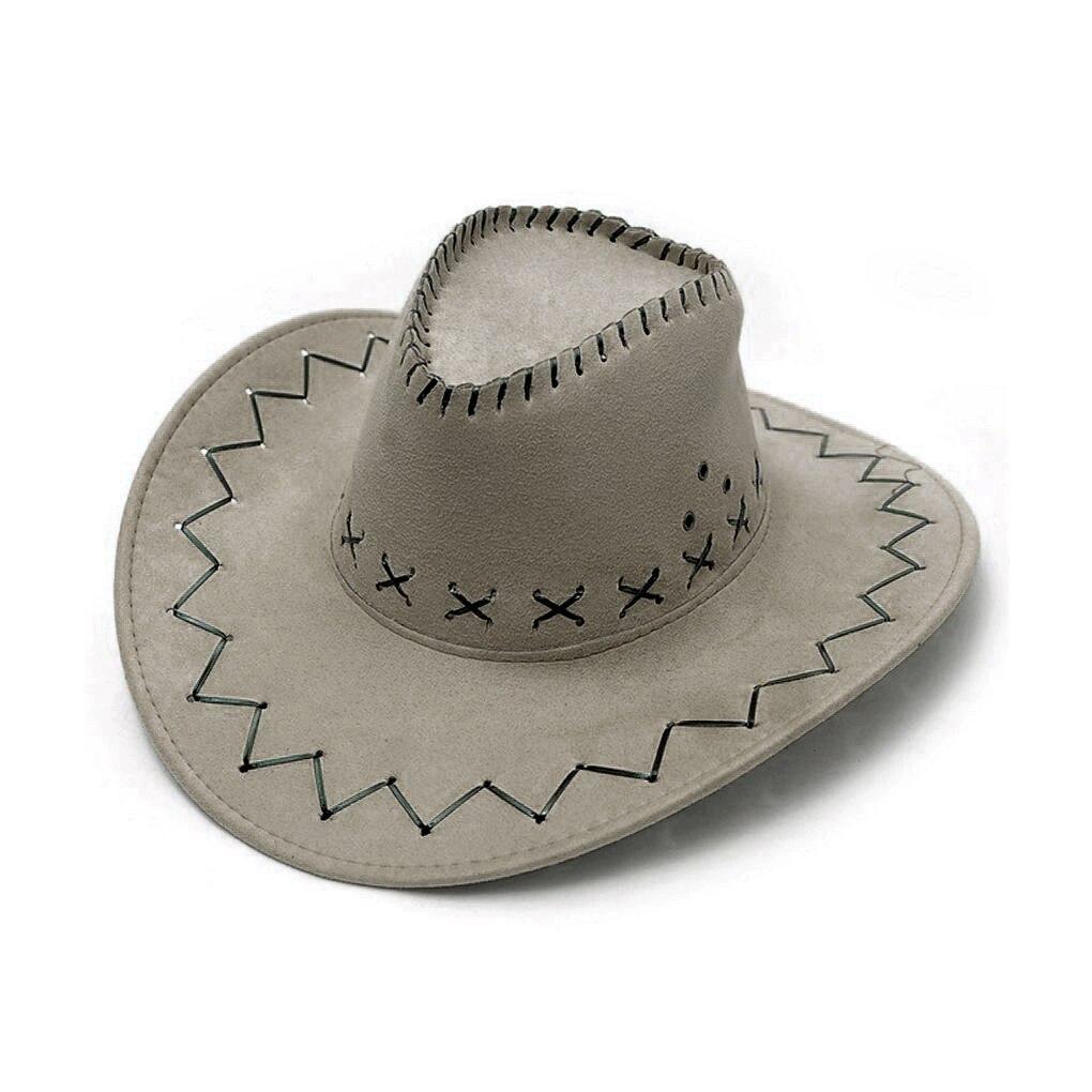 Sombrero vaquero y Vaquera Unisex para niños, niños, niñas, Salvaje Oeste, disfraces de fiesta, sombreros de sol casuales, gorra de moda occidental