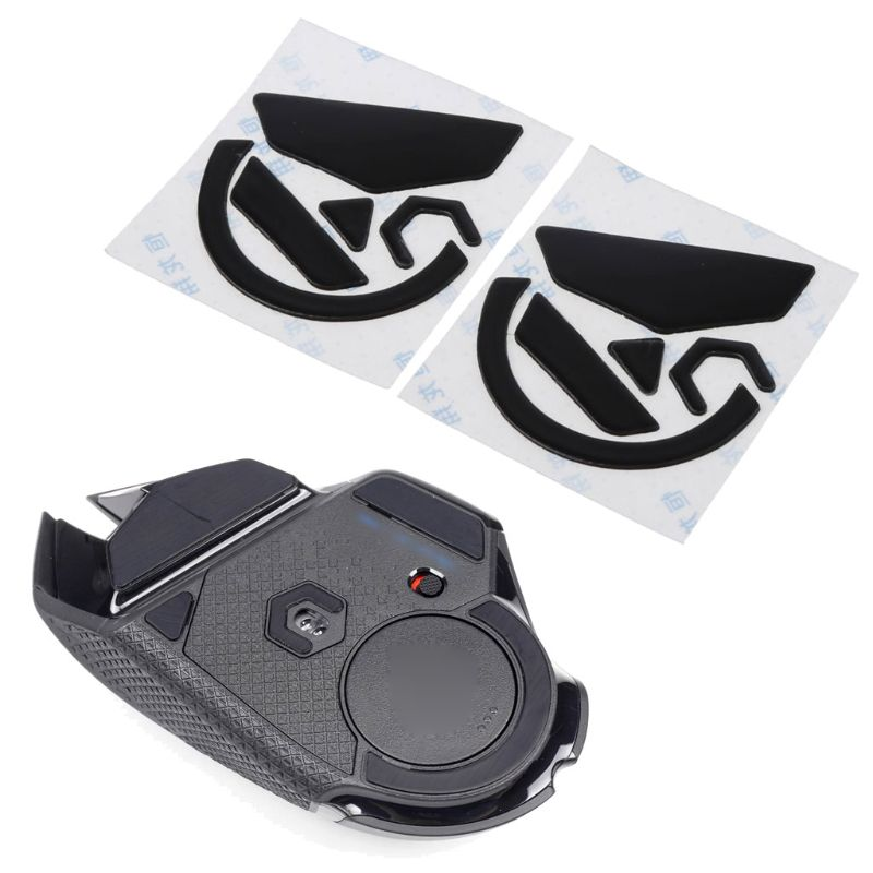2 conjuntos 0.6mm preto mouse pés patins mouse adesivos almofada para logitech g502 herói lightspeed mouse c26