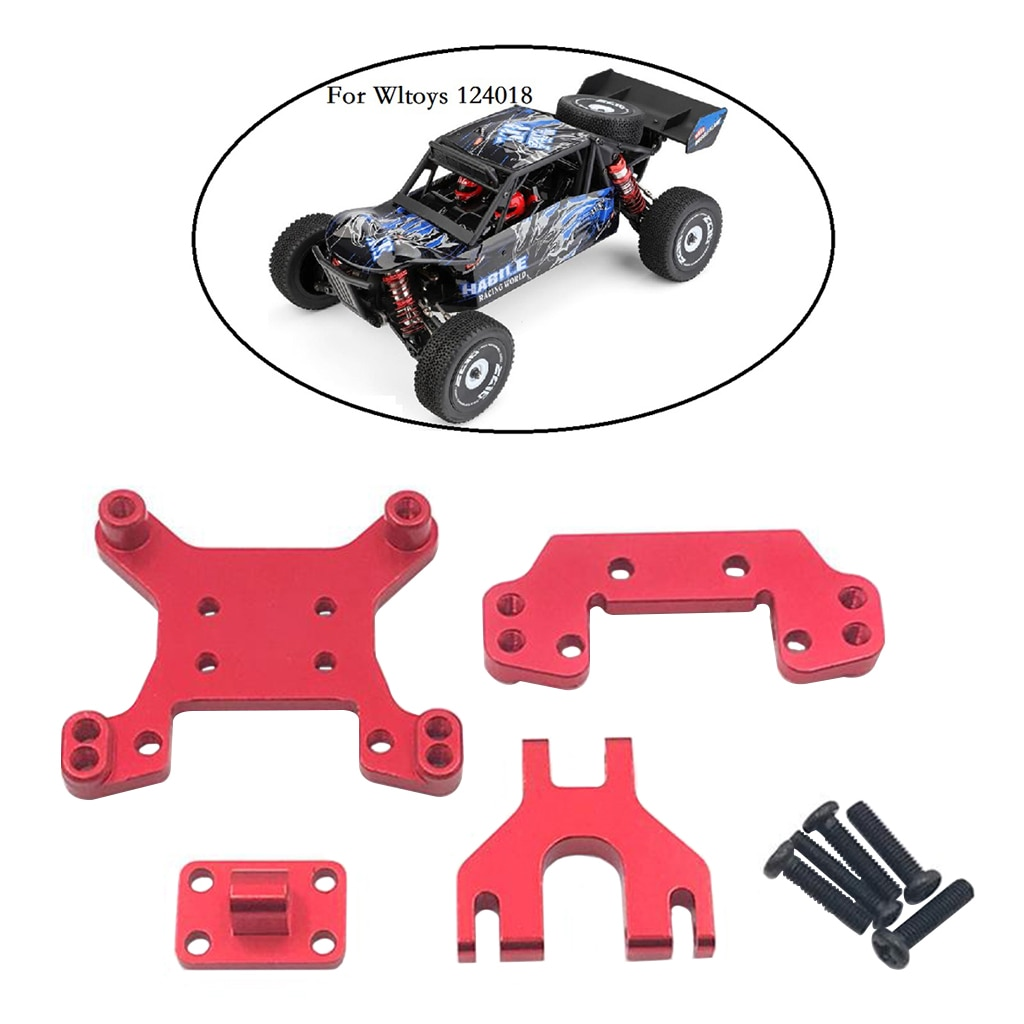 Front + Rear Shock Tower Mount Set for WL 1:12 124018 Remote Control RC Car Upgrade Parts enlarge