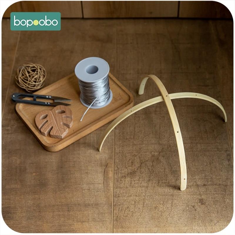 Bopoobo 10 مجموعة الطفل حشرجة الطفل شماعات المحمول الطفل المحمول سرير شماعات الإطار DIY بها بنفسك الحرف ألعاب الأطفال للأطفال حامل الذراع قوس