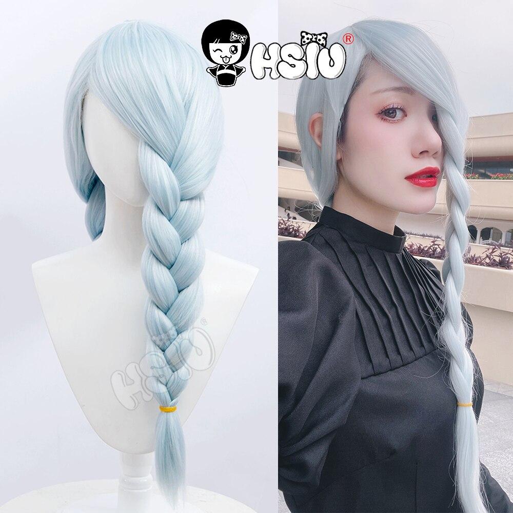 Mei Mei cosplay wig Anime  Jujutsu Kaisen Cosplay Wigs HSIU  Ice Blue Braid Long hair Halloween Part