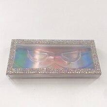 Empty Diamond Lash Box Bling Glitter Mink Eyelash Case without Eyelashes Rhinestones Eyelashes Packing